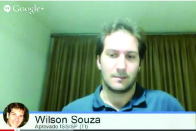 ENTREVISTA EM VÍDEO: Wilson Souza - Aprovado no concurso ISS/SP para o cargo de TI