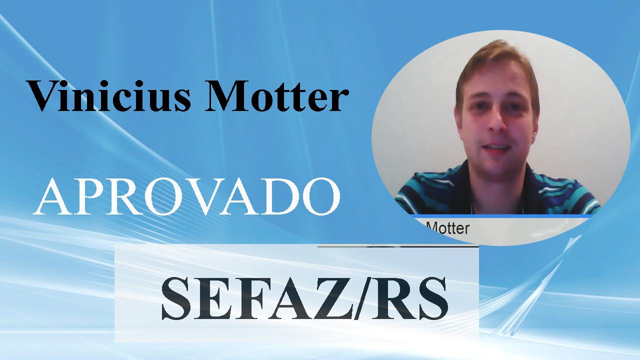 ENTREVISTA EM VÍDEO: Vinícius Motter - Aprovado no concurso da SEFAZ/RS para o cargo de Auditor Fiscal Tributário