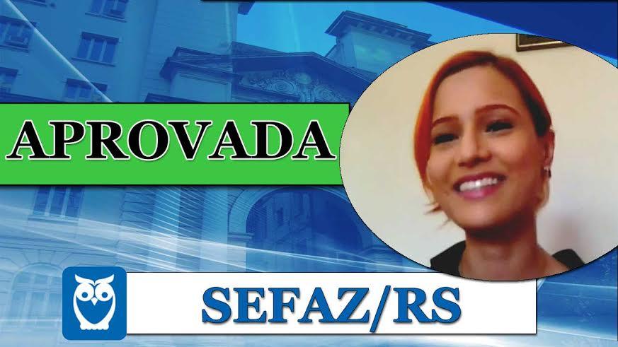 ENTREVISTA EM VÍDEO: Raquel Zucchi - Aprovada no concurso da SEFAZ/RS para o cargo de Auditor Fiscal