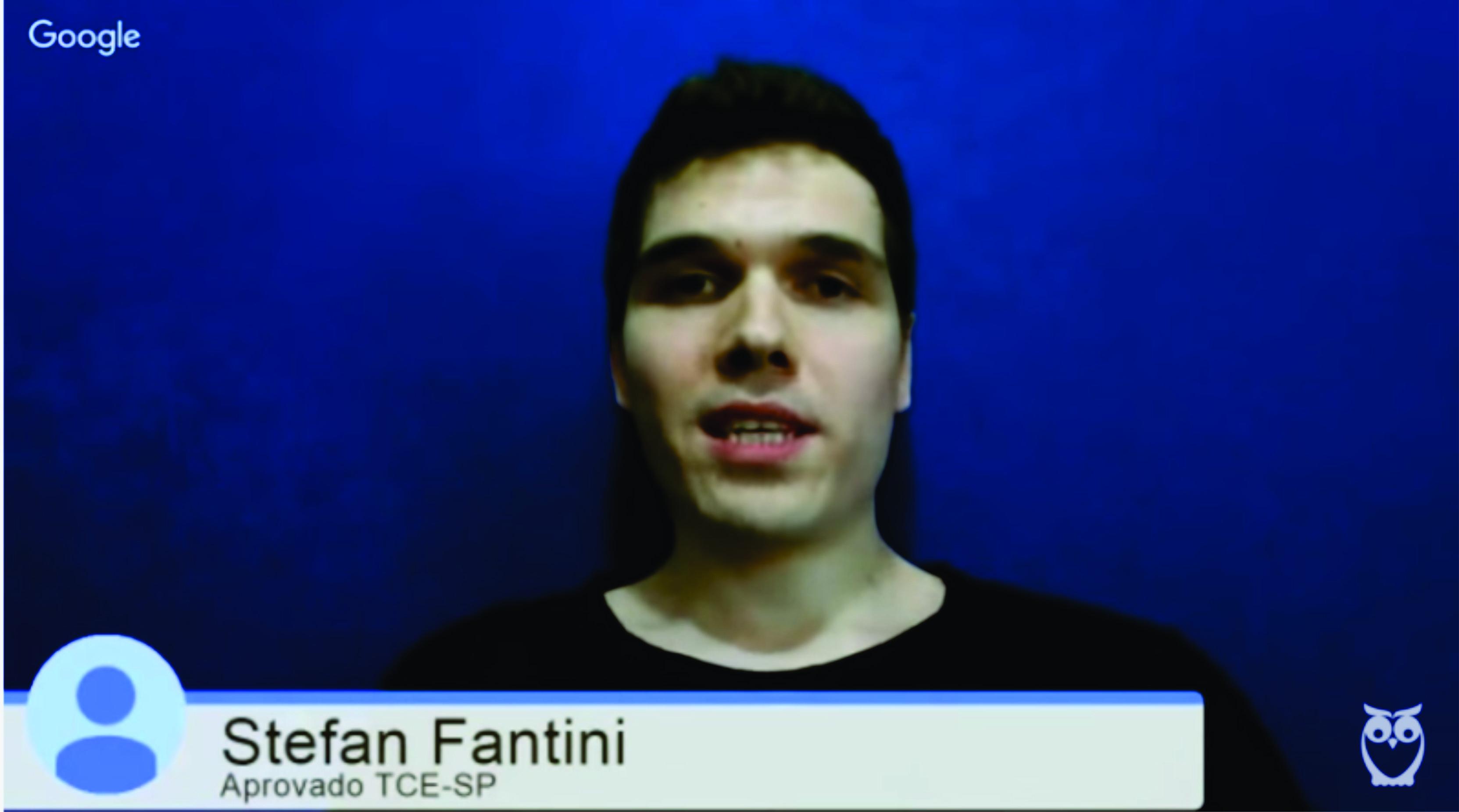 ENTREVISTA EM VÍDEO: Stefan Fantini - Aprovado no concurso TCE-SP para o cargo de Auxiliar de Fiscalização Financeira