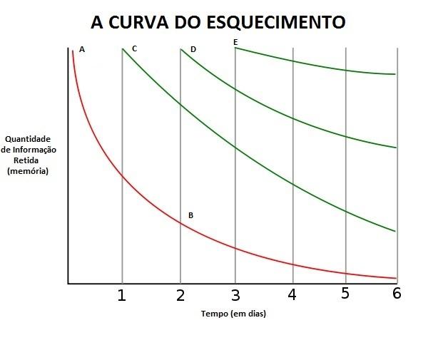 Resultado de imagem para curva do esquecimento