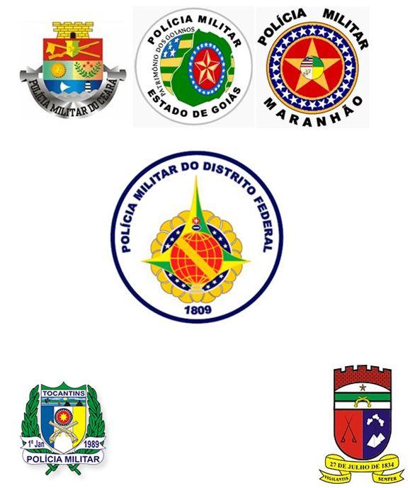 polícia militar próximos