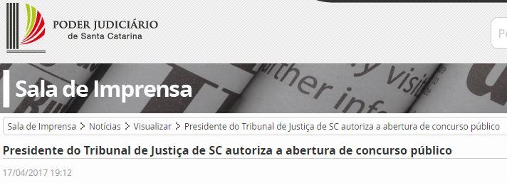 edital TJ-SC