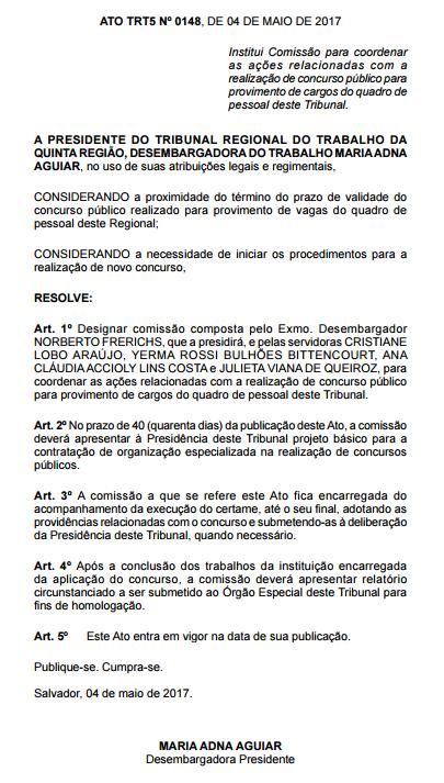 Concurso TRT 5