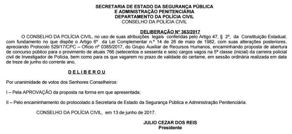concurso policia civil pr investigador
