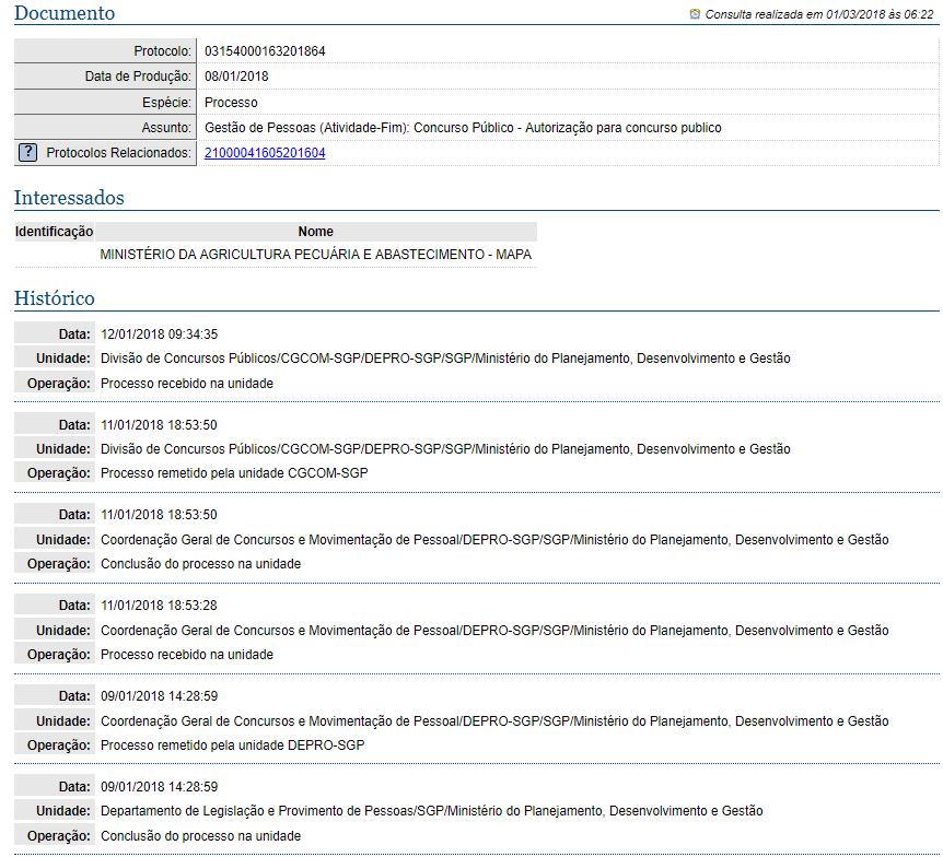 Concurso MAPA  Pedido de novo concurso é protocolado no MP 6d761a24ec963