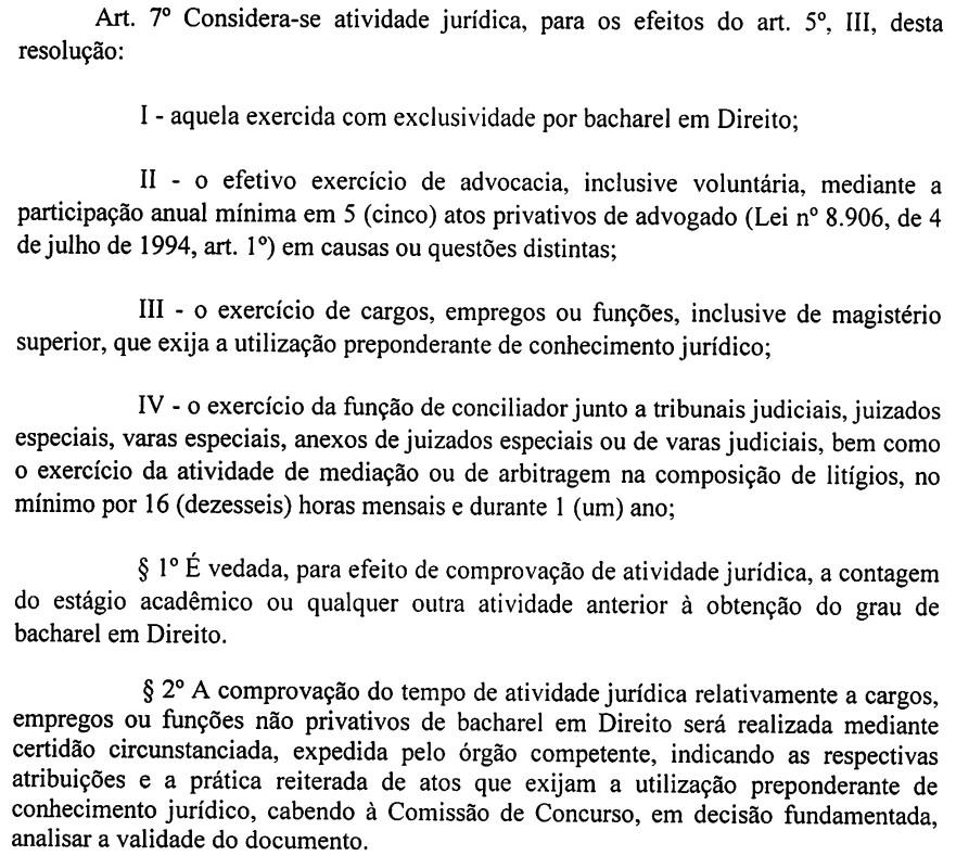 atividade jurídica dpe pi