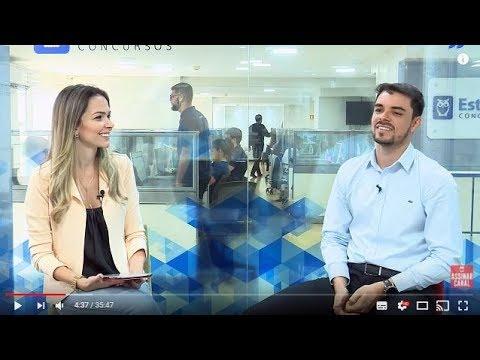 ENTREVISTA EM VÍDEO: Thiago Barros - Aprovado em 2º lugar no TRF-5 para Analista especialidade Informática/Infraestrutura