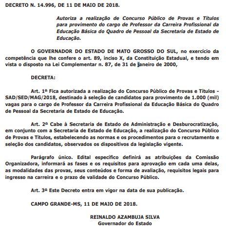 68d5965b3ef1 Concurso SED MS: edital com oferta de 1.500 vagas para professor e ...