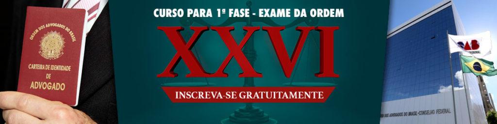 xxvi exame de ordem