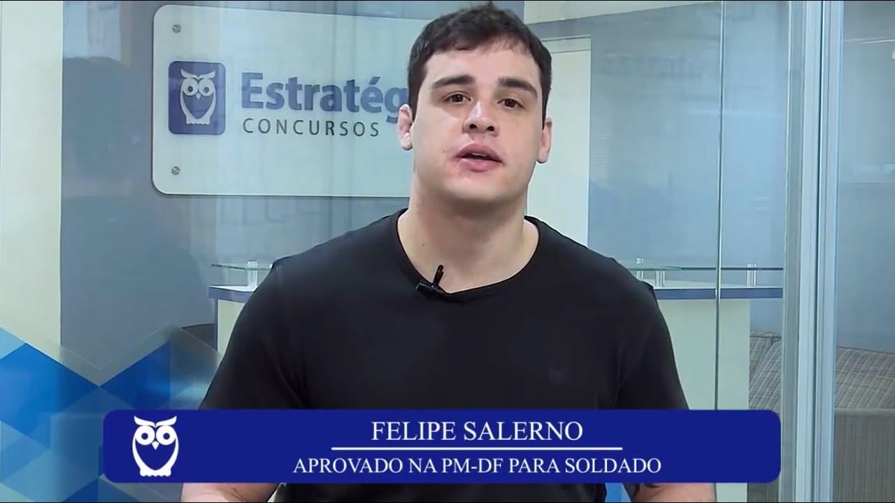 ENTREVISTA EM VÍDEO: Felipe Salerno - Aprovado no concurso da Polícia Militar do Distrito Federal para o cargo de soldado