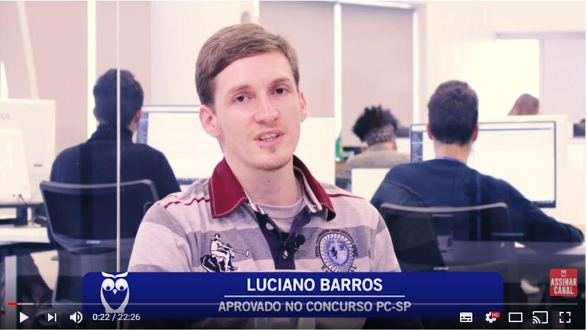 ENTREVISTA EM VÍDEO: Luciano Barros - Aprovado no concurso PCSP para Papiloscopista