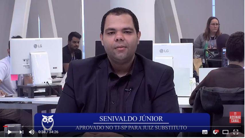 ENTREVISTA EM VÍDEO: Senivaldo Júnior - Aprovado no concurso TJSP para o cargo de Juiz Substituto