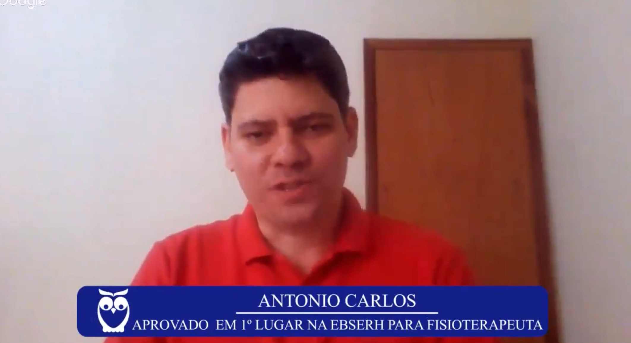 ENTREVISTA EM VÍDEO: Antônio Carlos - Aprovado em 1º lugar no concurso EBSERH no cargo de Fisioterapeuta (Região 9)