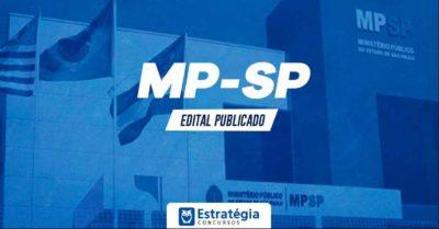Concurso MP SP: publicado o edital MP SP com vagas para nível superior e salário inicial de R$13 mil