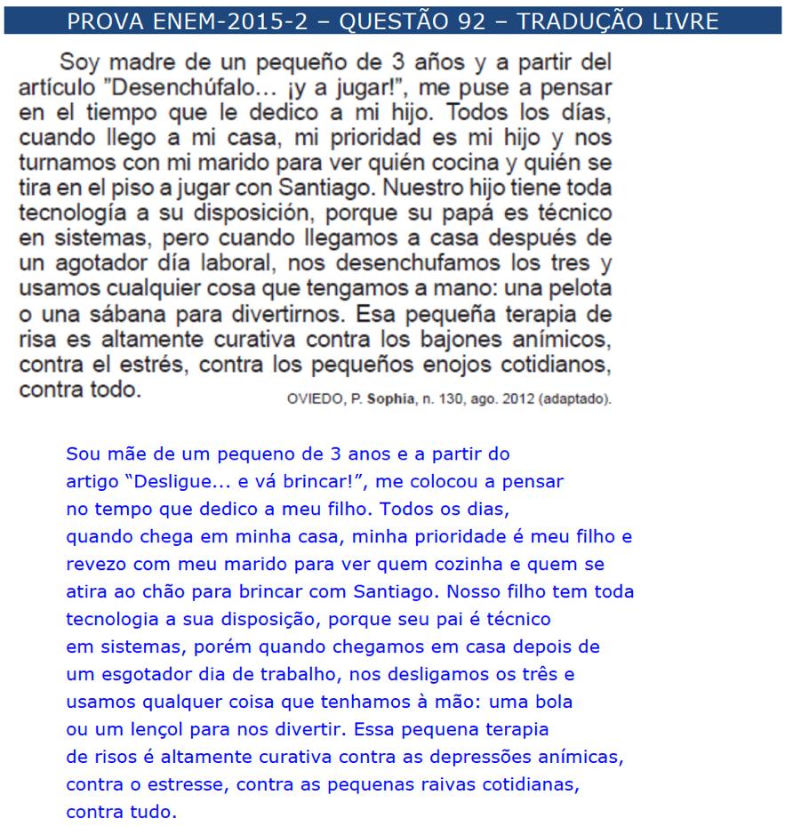 enem espanhol \u2013 questÕes \u2013 artigo 22 454097 Exercicios De Artigos Em Espanhol #11