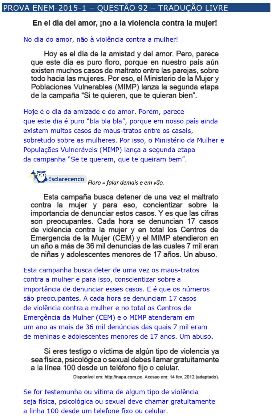 enem espanhol \u2013 questÕes \u2013 artigo 27 454097 Exercicios De Artigos Em Espanhol #7