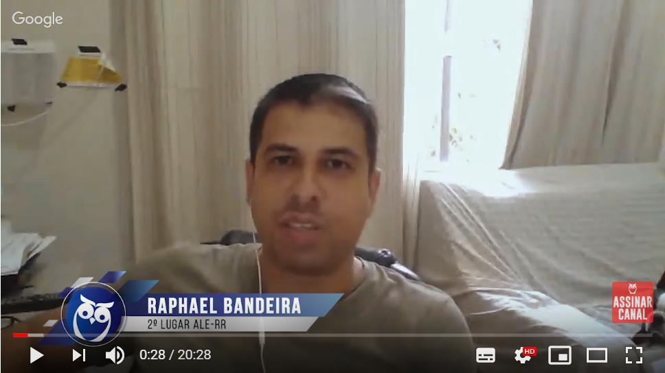ENTREVISTA EM VÍDEO: Raphael Bandeira – Aprovado em 2° lugar no concurso da Assembleia Legislativa de Roraima no cargo de Analista de Sistemas