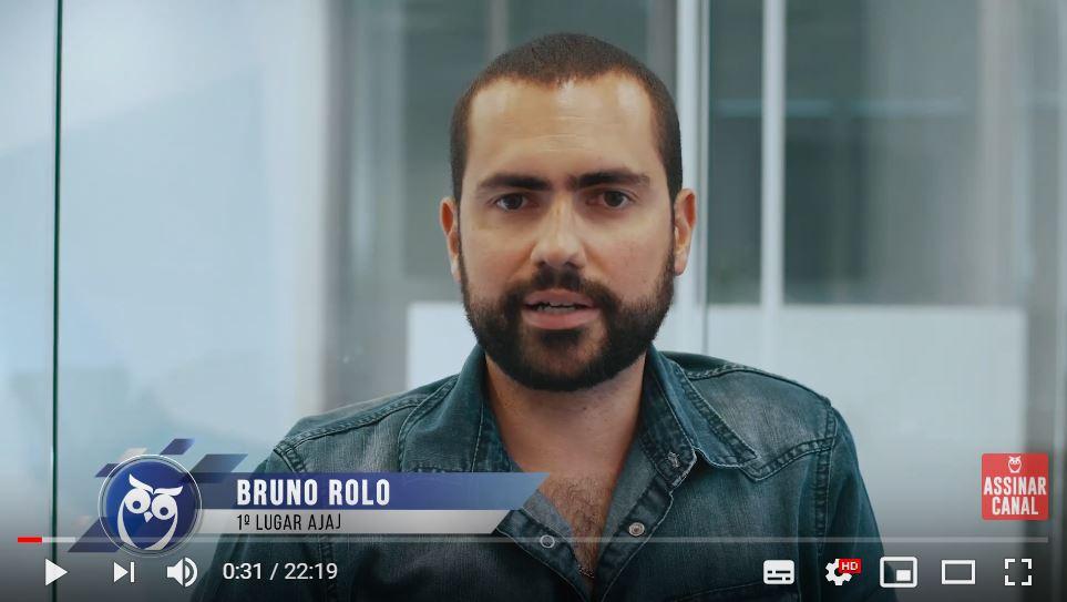 ENTREVISTA EM VÍDEO: Bruno Rolo – Aprovado no concurso TRT 15 em 1º lugar no cargo de AJAJ – Polo Jundiaí