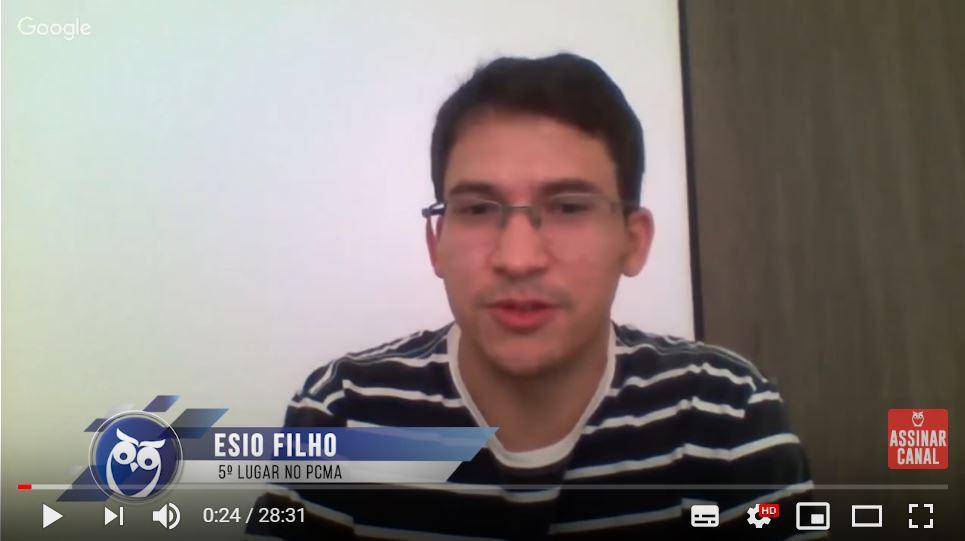 ENTREVISTA EM VÍDEO: Esio Filho - Aprovado em 5º lugar no concurso PC MA no cargo de Investigador
