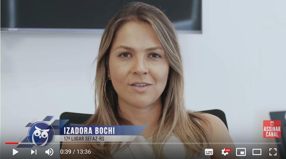 ENTREVISTA EM VÍDEO: Izadora Bochi Knorr - Aprovada em 17º no concurso SEFAZ RS para o cargo de Auditor-Fiscal da Receita Estadual