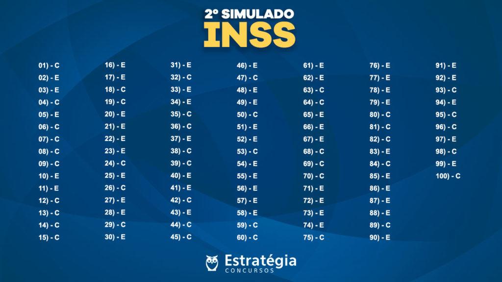 Gabarito 2º simulado INSS