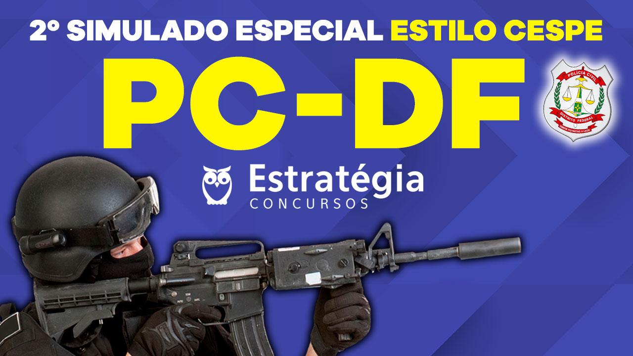 2º Simulado PCDF: divulgados Gabarito, Nota e Ranking do Simulado