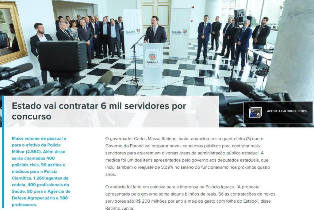 Concurso Delegado PR: anúncio do certame