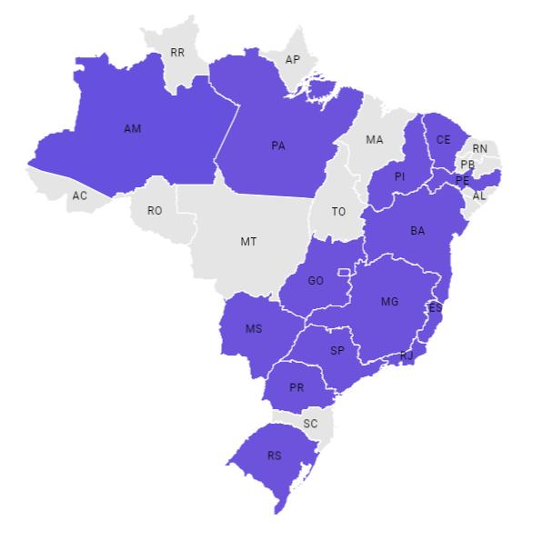 Vestibular IME 2019/2019 - mapa com os locais de aplicação dos exames