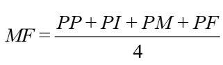 fórmula para obter a média final da prova escrita do concurso EEAR 2020