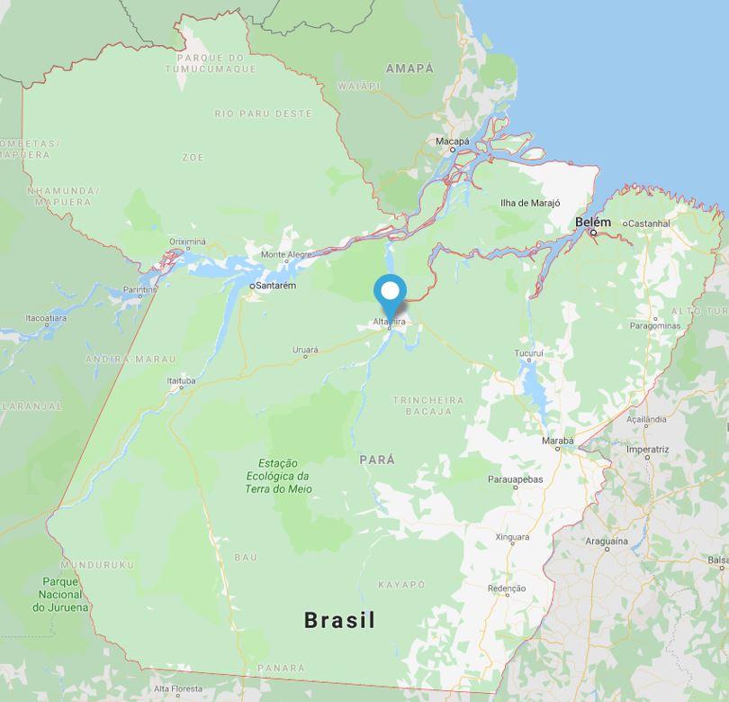 Concurso Prefeitura de Altamira: mapa do estado do Pará