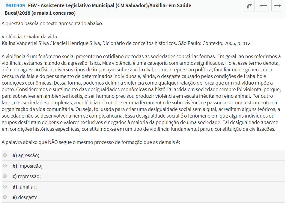 questão FGV Português