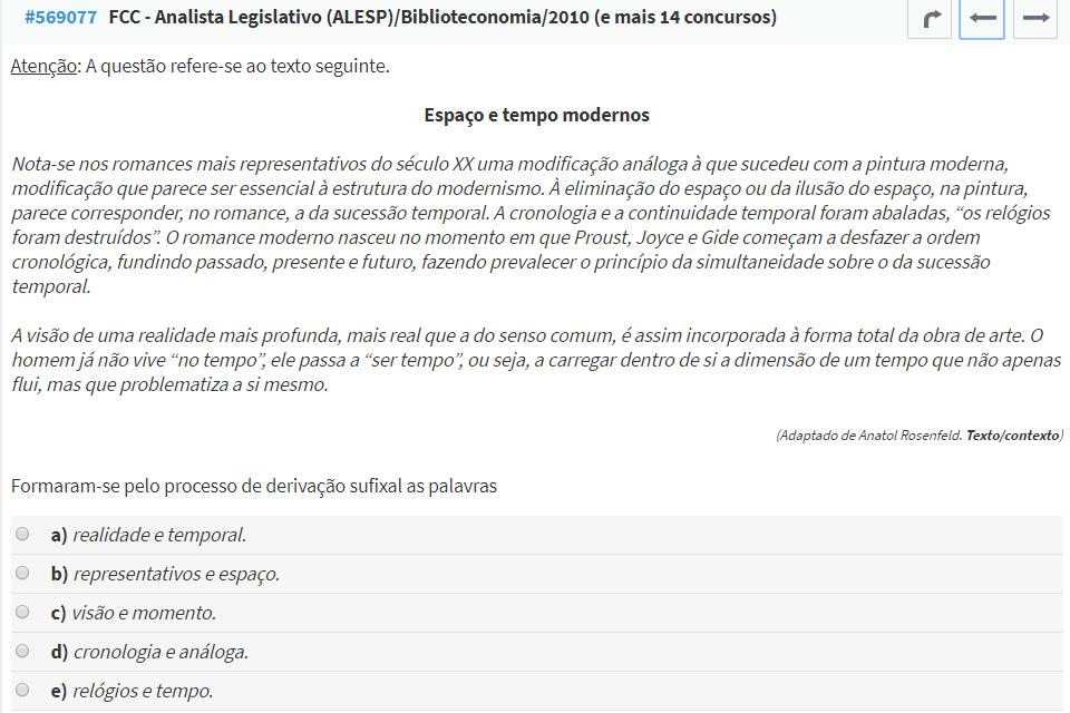 questão FCC Português