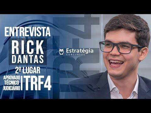 ENTREVISTA EM VÍDEO: Rick da Silva Dantas - Aprovado no concurso TRF 4 em 2° lugar para Técnico Judiciário na região Central/PR
