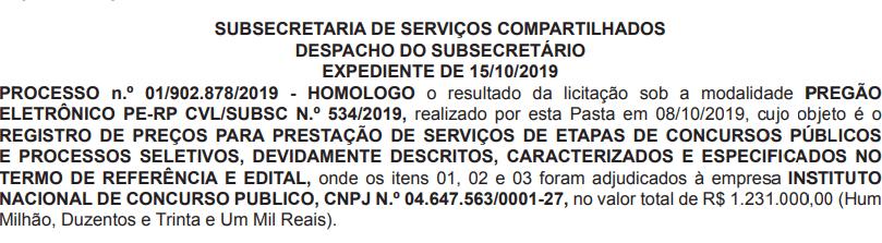 Banca organizadora do próximo Concurso Prefeitura Rio de Janeiro