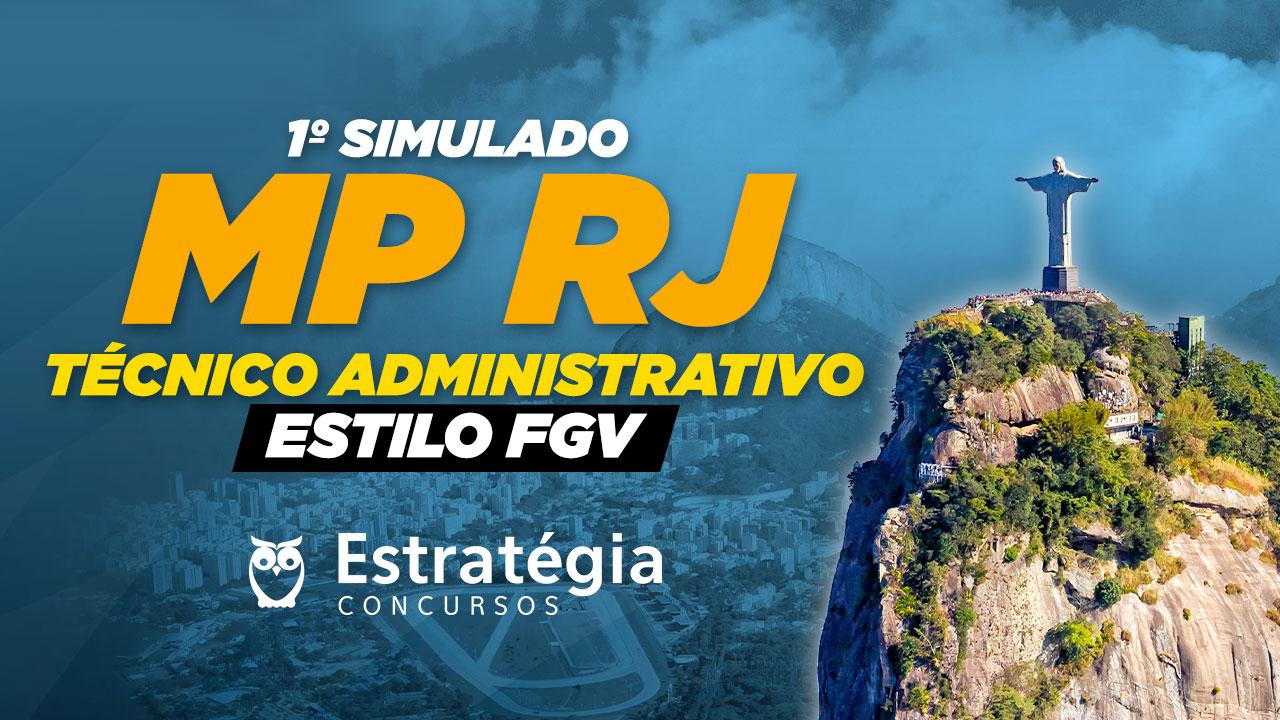 Simulado MP RJ (Técnico Administrativo): baixe o PDF e teste seus conhecimentos