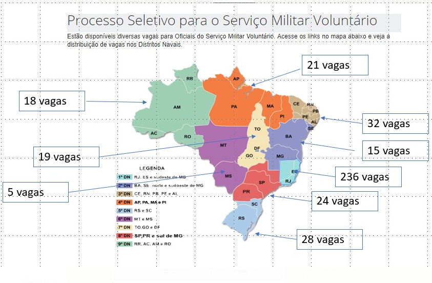 concurso oficiais smv: mapa dos distrito navais quantidade de vagas para 2020