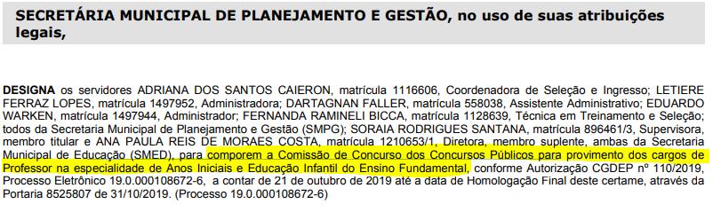 Concurso Prefeitura Porto Alegre RS