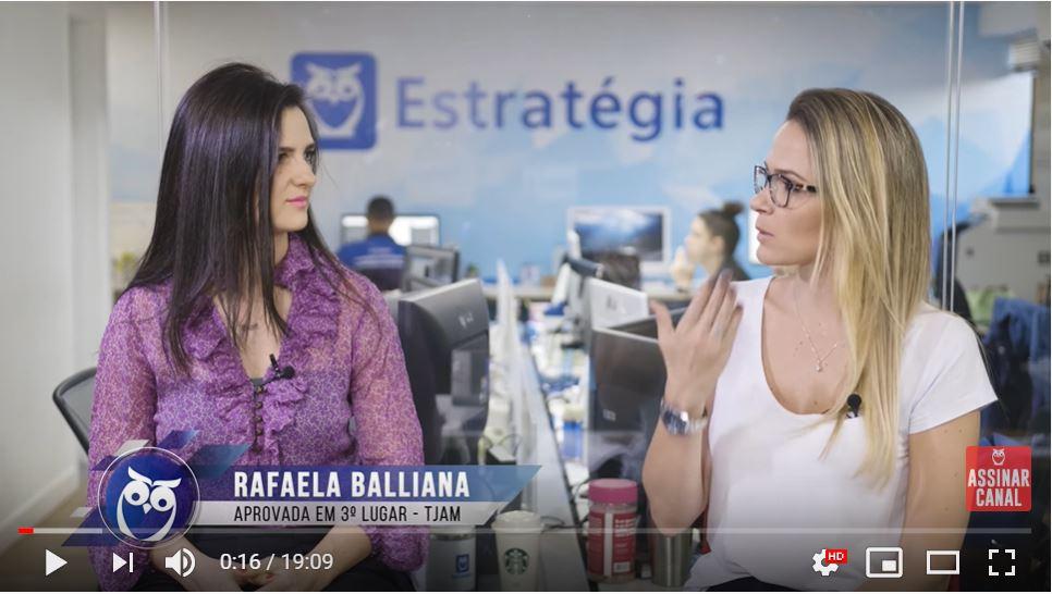 ENTREVISTA EM VÍDEO: Rafaela Balliana - Aprovada em 3º lugar no concurso TJ AM no cargo de Analista - especialidade Estatística