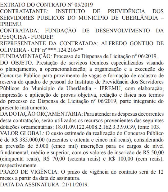 Banca definida do concurso IPREMU