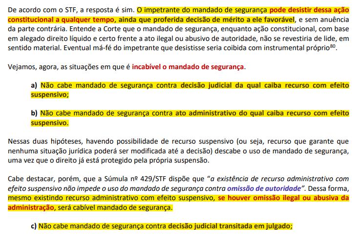 Grifos em Aula grifada de Direito Constitucional