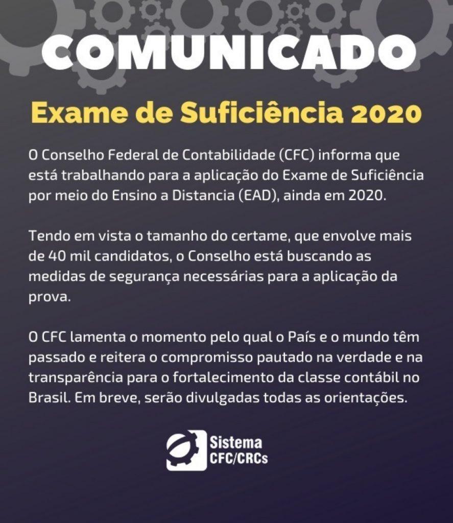 Comunicado Exame CFC