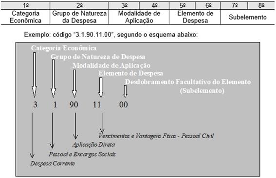 Classificação por natureza da despesa