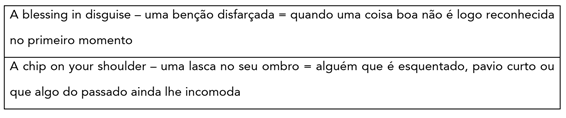Inglês nos concursos da PCDF e do CMB-MG expressões idiomáticas a blessing in disguise a chip on your shoulder