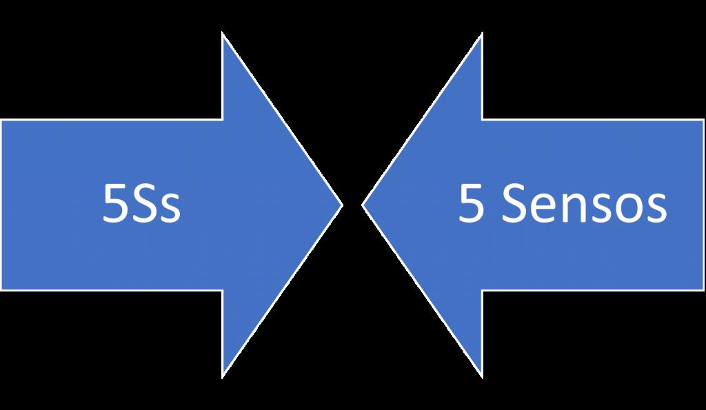 Metodologia 5s e 5 sensos convergem ao mesmo ponto.