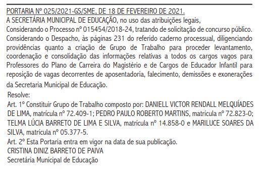 Grupo de trabalho do concurso SME Natal: Daniel Victor Rendall Melquíades de  Lima, Pedro Paulo Roberto Martins, Telma Lúcia Barreto de Lima e Mariluce Soares da Silva.