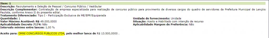 Lençóis Paulistas: OMNI é habilitada para organizar edital com 7 vagas