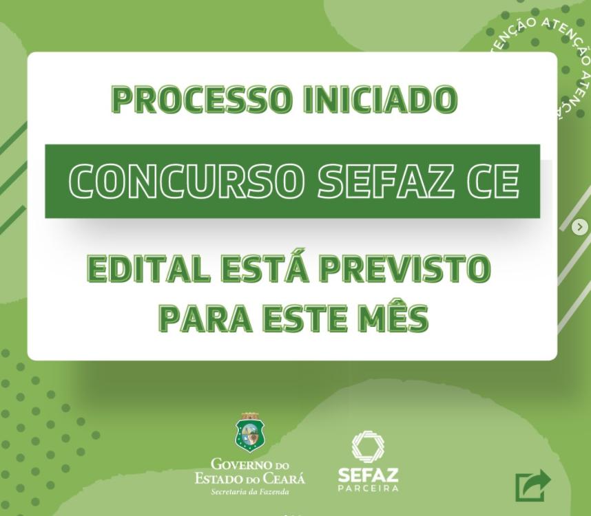 Banner do governo do Ceará prevendo edital do concurso Sefaz CE