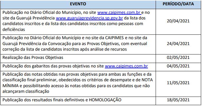 Guarujá Previdência tem novo cronograma; Provas em maio!