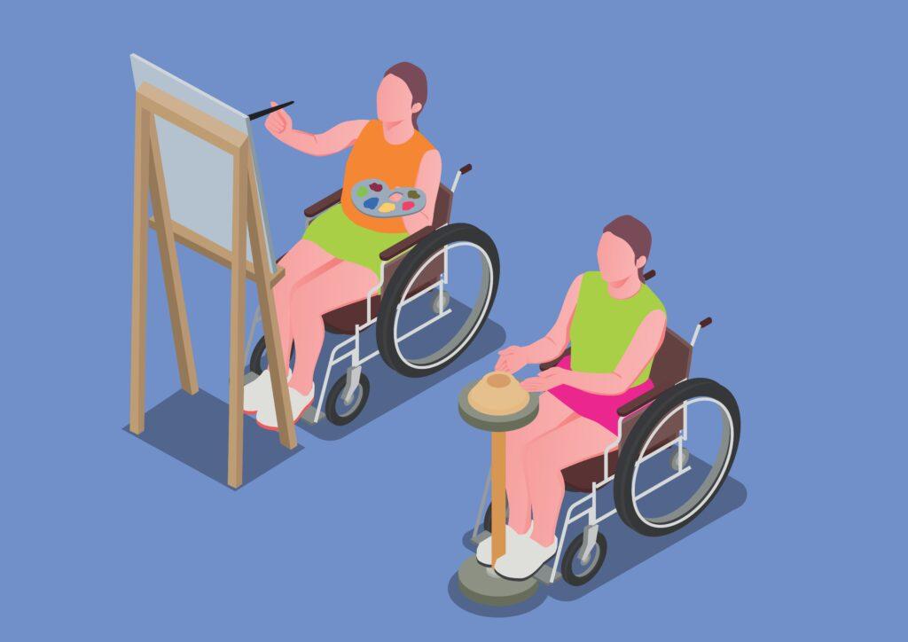 A assistência social, que provê serviços a deficientes físicos e populações carentes, busca a integração dessas pessoas ao trabalho.